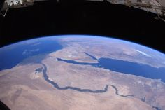 Nile and Pyramids from above