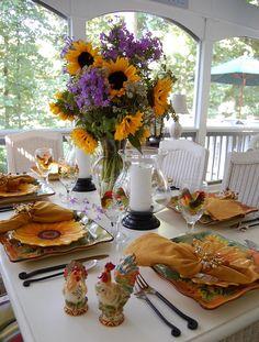 Sunflower Celebration: The 98th Tablescape Thursday