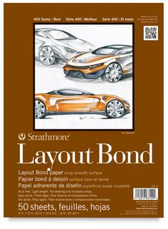 Strathmore 400 Series Layout Bond Pad, Glue Bound, 50 Sheets Ideal for rough drawings or finished compositions Perfect for pencil, pen, and marker 16 lb. acid free Glue Bound 50 Sheets per Pad Vellum Paper, Utrecht, Composition, Bond Paper, Marker Paper, Drawing Letters, Layout, Arts And Crafts Supplies
