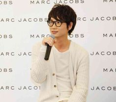 Go Ayano with megane Mens Glasses, Actor Model, Marc Jacobs, Celebs, Actors, My Love, Japanese, Star, Celebrities