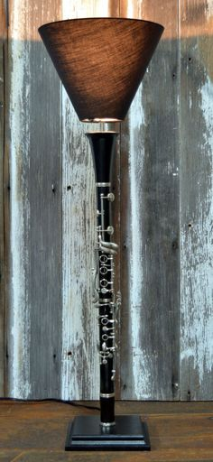 This clarinet repurposed into a sleek lamp.                                                                                                                                                                                 More