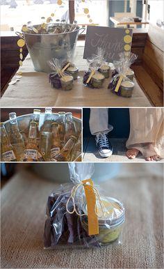 beach wedding/favors