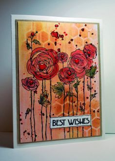images stampendous carnation stamp | Stampendous Ranunculus flower fields