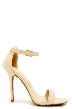 4ea77590d0d2 LULUS Elsi Bone Single Strap Heels at Lulus.com! Wrap Shoes