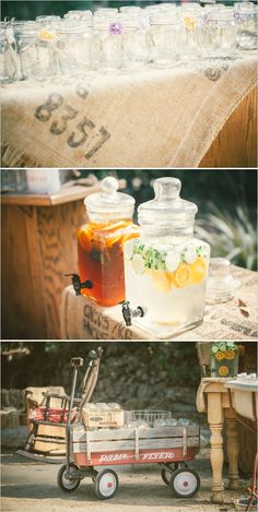 rustic drink table ideas