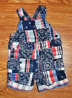 65f9ed7075 CHILDRENS PLACE BOYS 12 MONTH SHORT OVERALLS PATCHWORK PATRIOTIC EUC GIRL  #TheChildrensPlace #DressyEverydayHolidayINDEPENDENCEDAY Short
