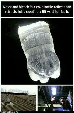 Mini sky lights! Bottled water.