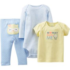 Child of Mine by Carter's Newborn Girl Cotton Outfit 3-Piece Set: Baby Clothing : Walmart.com