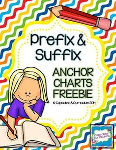 Prefix and Suffix Anchor Charts {FREEBIE}