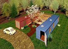 Resultado de imagen de container house Courtyard #containerhomedesign