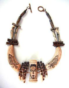 """Hunter"" - Polymer clay necklace by Sonya Girodon."