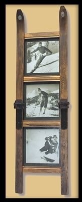 3 Pane Ski Frame with Vintage Ski Photos