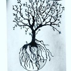 #arboldevida #planeta #lifetree #earth #tattoo by @rooy90