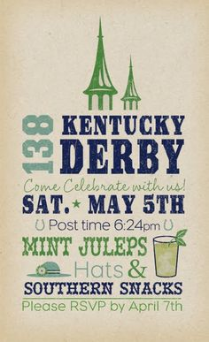 Kentucky Derby, Derby Time, Derby Day, Invitation Wording, Party Invitations, Invite, Bourbon, Horse Racing Party, Derby Horse