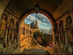 The iconic Fisherman's Bastion in Budapest, Hungary .will be in Budapest this fall. Places Around The World, Oh The Places You'll Go, Places To Travel, Places To Visit, Around The Worlds, Granada Andalucia, Granada Spain, Spain And Portugal, Dream Vacations