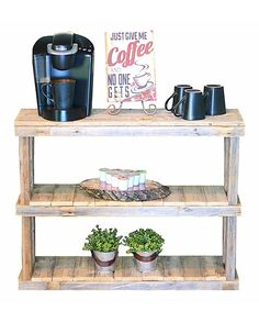 Doug & Cristy Designs Natural Three-Tier Console Table   zulily