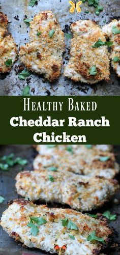 Healthy Baked Cheddar Ranch Chicken Healthy Baked Cheddar Ranch Chicken Chicken dipped in a mixture of ranch seasoning and panko breadcrumbs then baked till crispy makes for the perfect delicious easy weeknight meal. Serve this with a salad and you have a high protein lower carb lunch or dinner. Did your mom ever make Shake 'N Bake? You know, throw some chicken breasts into a ... Read More about Healthy Baked Cheddar Ranch Chicken - Healthy baked Cheddar Ranch Chicken Recipe. Low carb high… Heart Healthy Recipes, Healthy Dinner Recipes, Healthy Food Choices, Healthy Desserts, Vegetarian Recipes, Low Carb High Protein, Ranch Chicken Recipes, Recipe Chicken, Beef Recipes