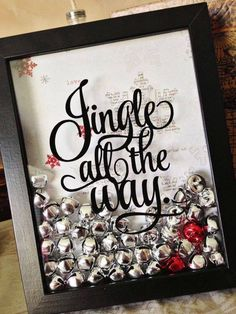 How adorable is this? Start the first Christmas or for each year as a married couple and add a bell for each year! Add red bells for the year(s) you had a baby or green bells for year(s) you are blessed with a grandchild. <3