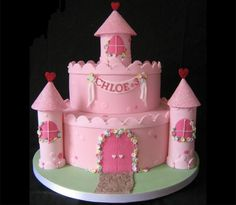 Best Castle Birthday Cakes Ideas And Designs Castle Birthday Cakes, Cool Birthday Cakes, Birthday Cake Girls, Princess Birthday, Princess Party, 4th Birthday, Girly Cakes, Cute Cakes, Fondant Cakes