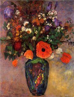 Vase de Fleurs - Odilon Redon