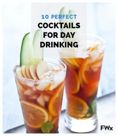 Expert day drinkers are not born—they are made. It is a nuanced skill: You have to drink enough to maintain a #buzz but not so much that you're passed out under the #grill before the sun sets. The key to making it all the way into the night is a great low-alcohol #cocktail. Here, 10 refreshing drinks that will get you tipsy without knocking you over.