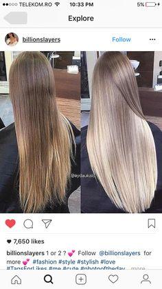 Source by pelintuncali Balayage Blond, Blonde Brunette, Icy Blonde, Hair Color Streaks, Blonde Hair Looks, Ombre Hair, Pretty Hairstyles, Hair Trends, Dyed Hair