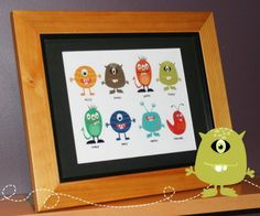 Monster party thumb print monster craft