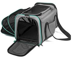 Pawdle Expandable and Foldable Pet Carrier Domestic Airline Approved (Heather Gray) Pawdle