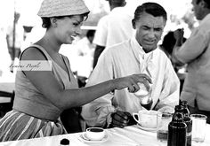 Sophia Loren and Cary Grant.