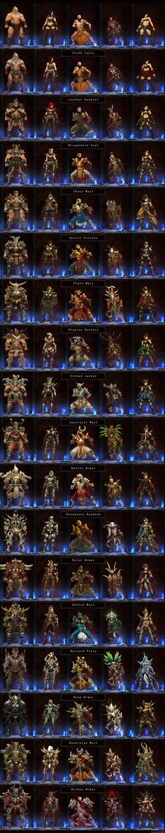 All D3 armor sets- great reference!