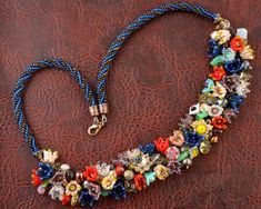 Blooming garden beadwoven necklace от LRAYJEWELRY на Etsy