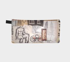 Carry this mini work of original art with you to organize your life! Pencils, makeup, change, even your phone will fit in this zippered pouch. Click on the visit button for more information, and to see other designs at paperwerks.etsy.com. #etsy