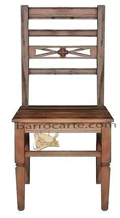 Cadeira Rústica Wood em Madeira de Demolição - Cód 248 - Bancos e Banquetas - Madeira de Demolição - Barrocarte