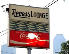 Recess Lounge sign near American Airlines Center #Dallas