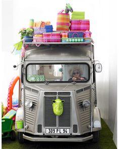 classic Citroen camper van ~ now this is glamping ~ Citroen Van, Citroen Type H, Vintage Caravans, Vintage Travel Trailers, Cars Vintage, Retro Vintage, Combi Wv, Cool Campers, Camping Glamping