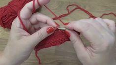 Škola pletení - splétání ok, ubírání, School knitting