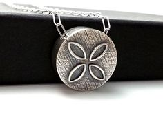 Silver Circle Pendant Slider Pendant Hollow by ShadesofGrayDesigns, $48.00