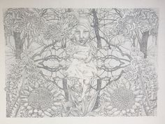 my silverpoint drawing 'Ascension'