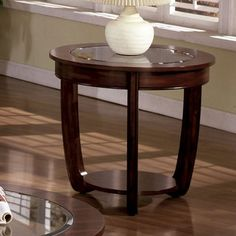 Furniture of America CM4336E Crystal Falls End Table