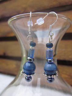 Blue sphere earrings. $12.00, via Etsy.