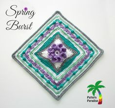 FREE Crochet Pattern – Spring Burst 12″ Square