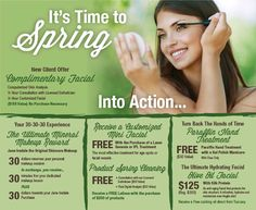 It's Time To Spring #spring #spaspecials #specials #skincare #beauty #spa @spaspringridge  Northbrook, IL 847-393-4770 Wyomissing, PA 610-927-3223