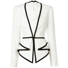 Sass & Bide Two Dimensions Tailored Jacket With Peplum Detail ($550) ❤ liked on Polyvore