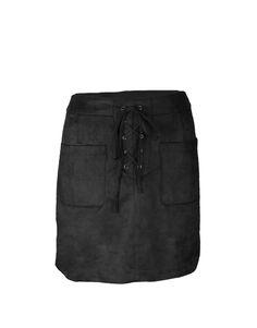 Nubuck skirt – black   Clouds of Fashion
