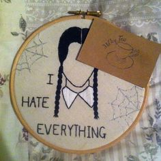 Hey, I found this really awesome Etsy listing at https://www.etsy.com/listing/248046514/wednesday-addams-embroidery-hoop