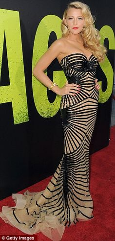 blake lively with a Zuhair Murad dress