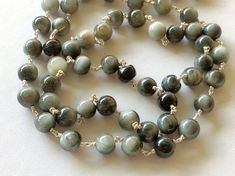 Cats Eye Plain Round Balls Beads in 925 Silver by gemsforjewels
