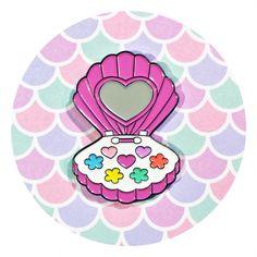 Mermaid Make-Up Pin from #CandyDollClub - #JadeBoylan