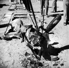Atomic bomb test site in Nevada 1955