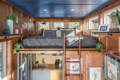 Master Bedroom. Cornelia Funke New Frontier Tiny Homes Architecture. By New Frontier Tiny Homes.